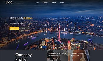 金融企业集团产品展示类网站